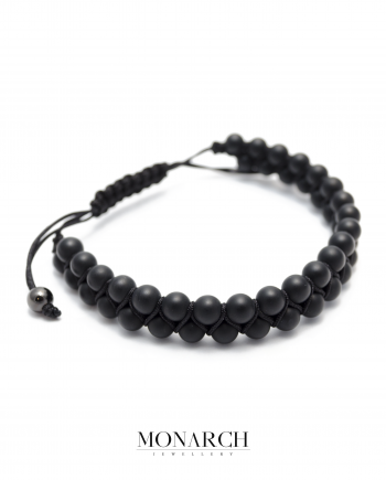 black matte macrame bracelet monarch jewellery
