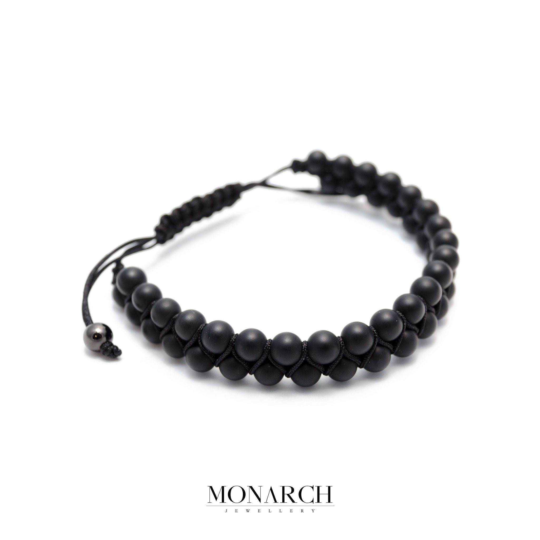 Monarch Jewellery Black Matte Luxury Macrame Bracelet