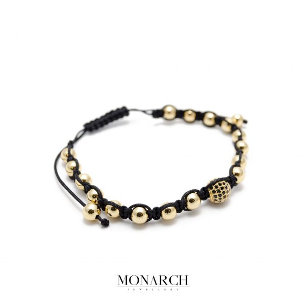 Monarch Jewellery 24k Gold Beads Luxury Macrame Bracelet