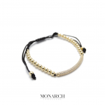 Monarch Jewellery 24K Micro Pave Charm Macrame Bracelet