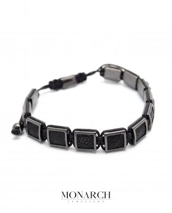 black pearlfish macrame bracelet monarch jewellery