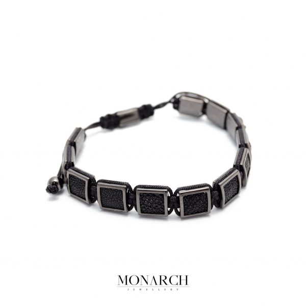 Monarch Jewellery Black Pearlfish Luxury Macrame Bracelet