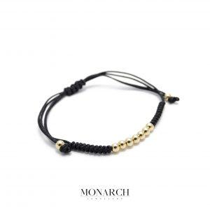 Monarch Jewellery 24k Gold Bead Macrame Bracelet