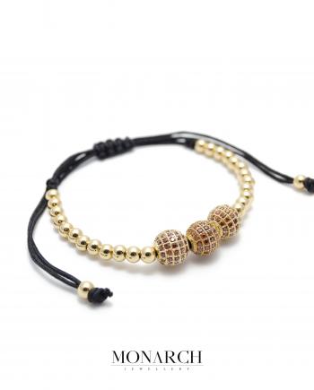 24k gold red zircon macrame bracelet monarch jewellery