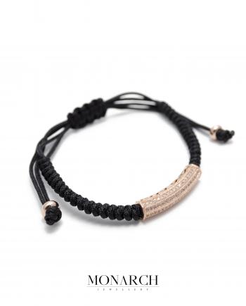 Monarch Jewellery Bratara Luxury Gold Rose Micro Tube Charm