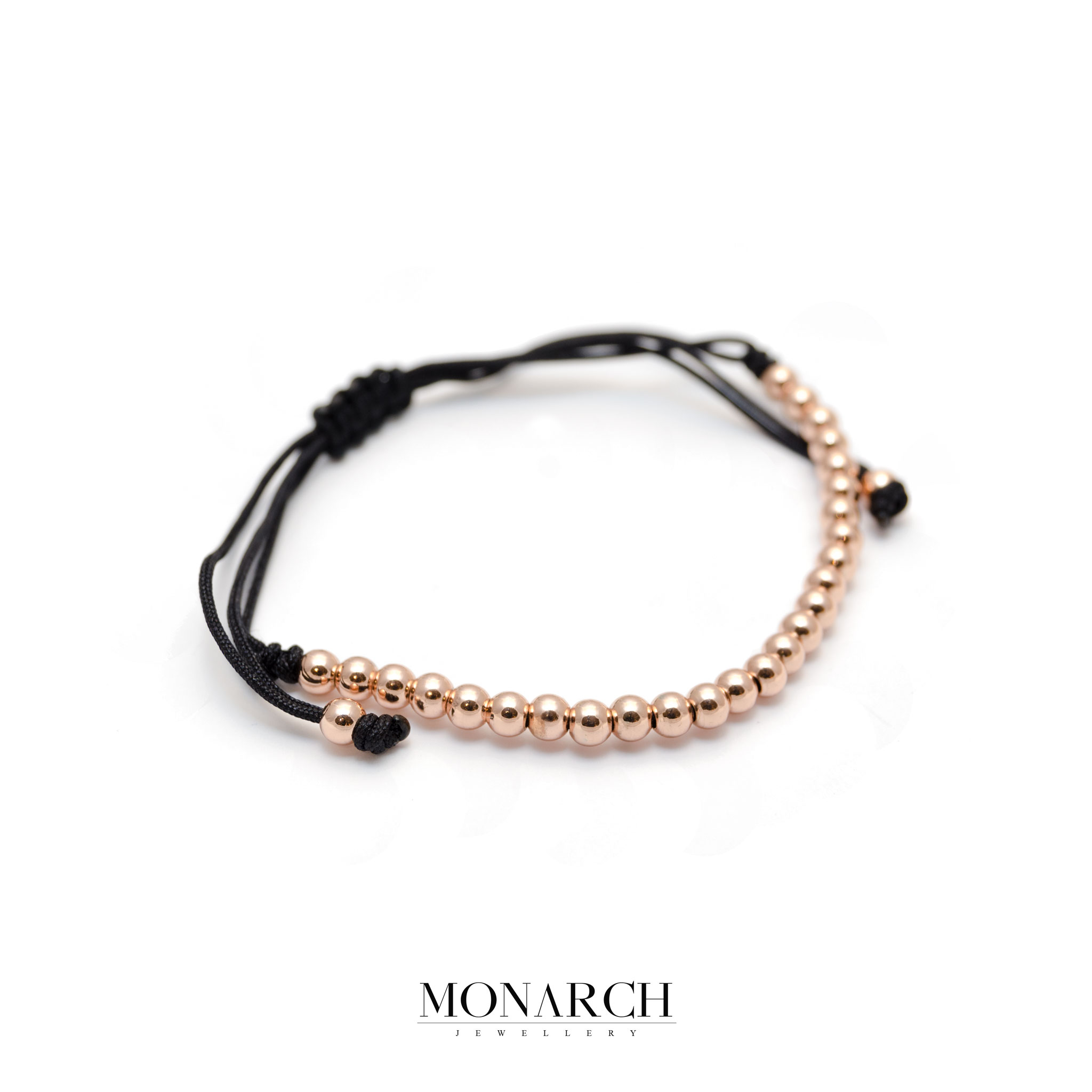Monarch Jewellery Gold Rose Spectra Zircon Macrame Bracelet