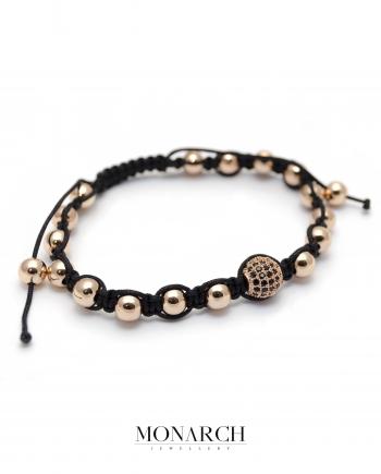 Monarch Jewellery Gold Rose Beads Macrame Bracelet