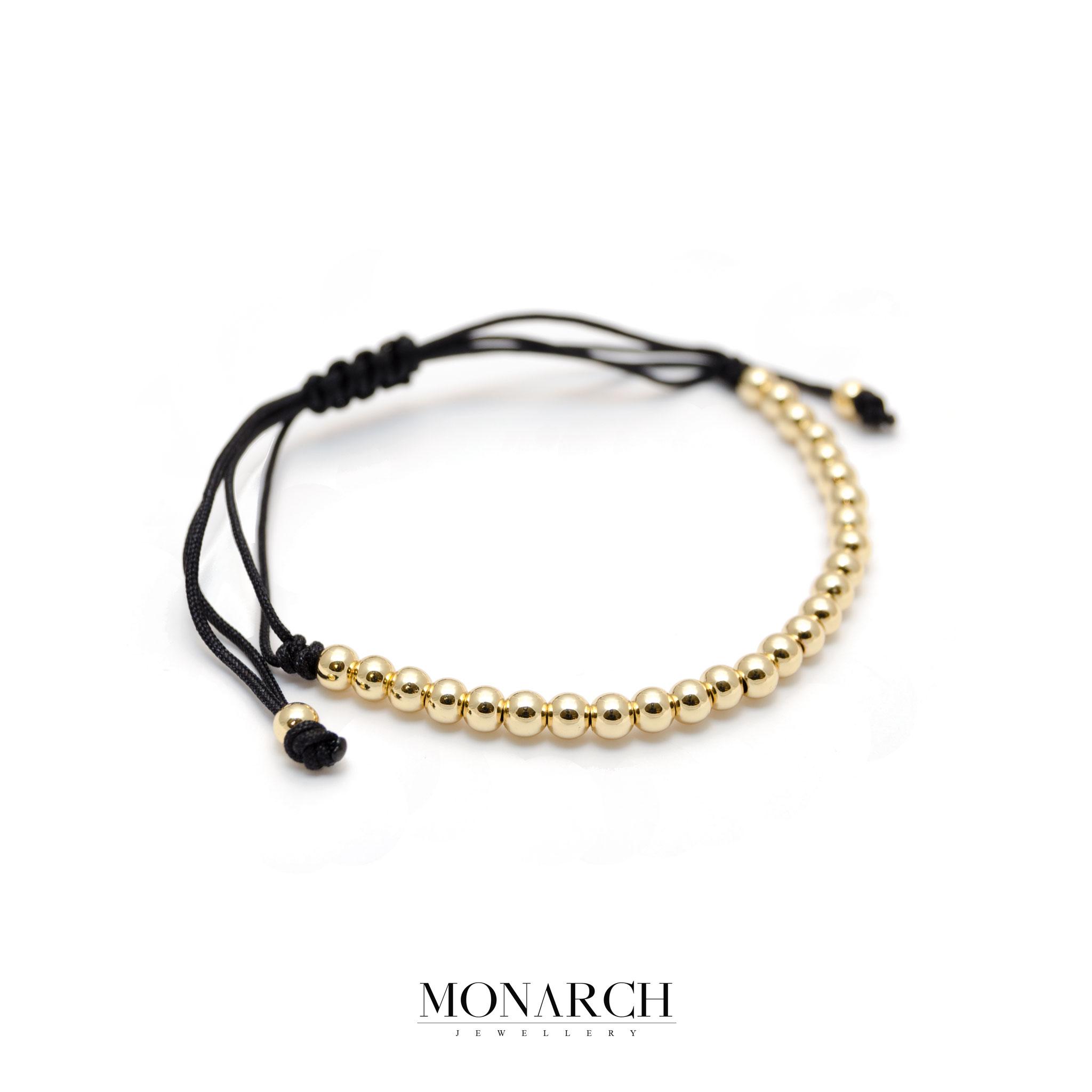 Monarch Jewellery 24k Gold Spectra Zircon Macrame Bracelet