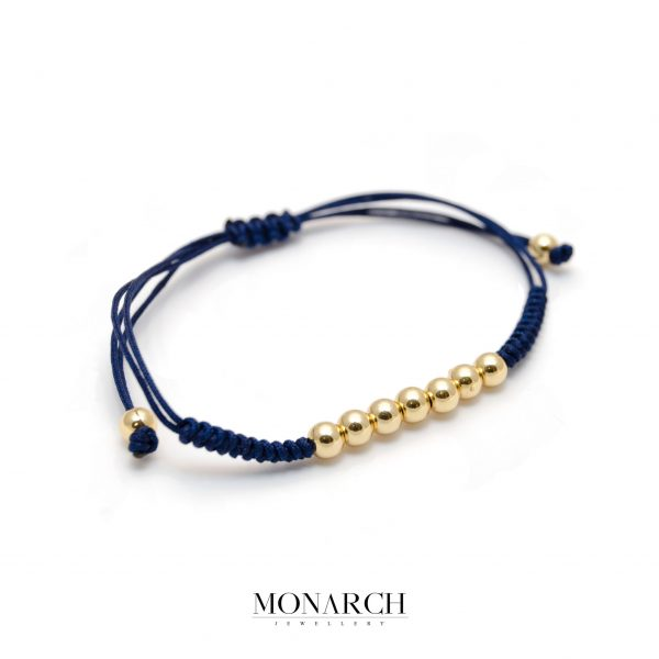 Monarch Jewellery 24k Gold Bead Azur Macrame Bracelet