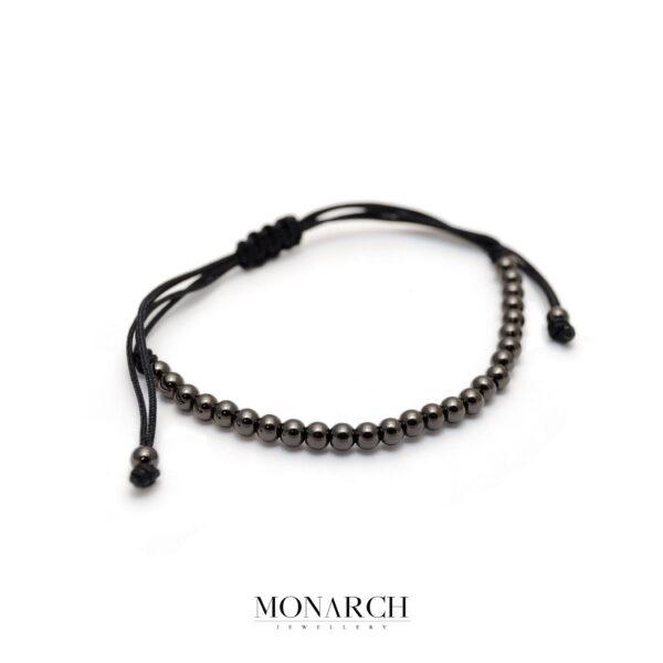 Monarch Jewellery Black Spectra Zircon Macrame Bracelet