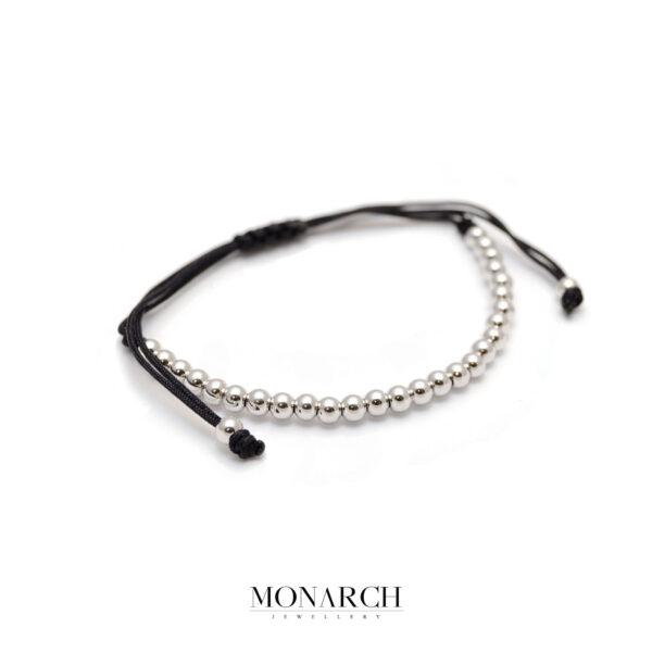 Monarch Jewellery Silver Spectra Zircon Macrame Bracelet