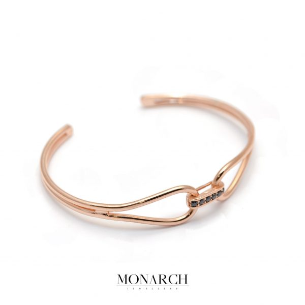 Monarch Jewellery Gold RoseInfinity Bangle Bracelet