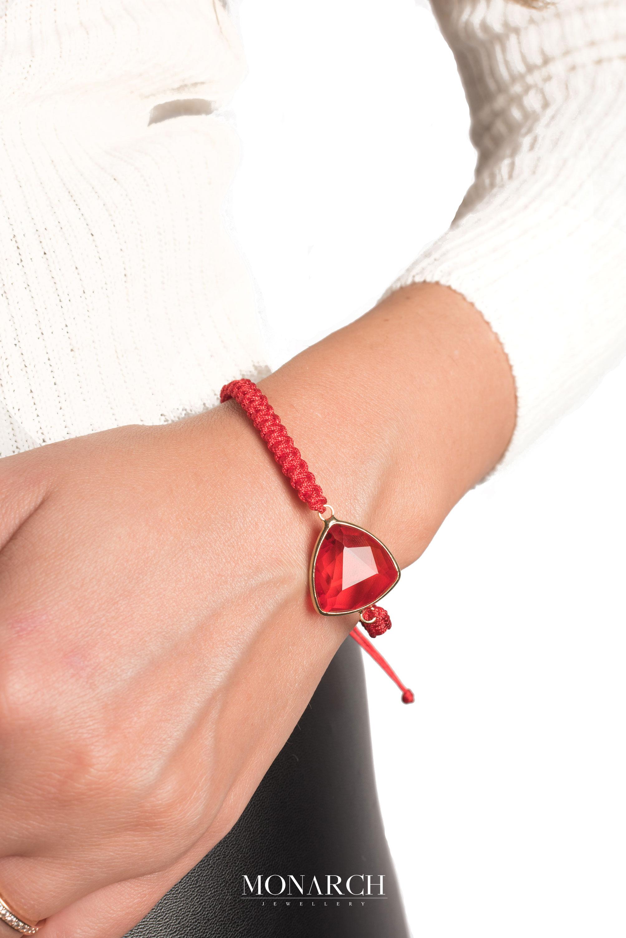 Monarch Jewellery Luxury Bracelet MA97REDSTN women