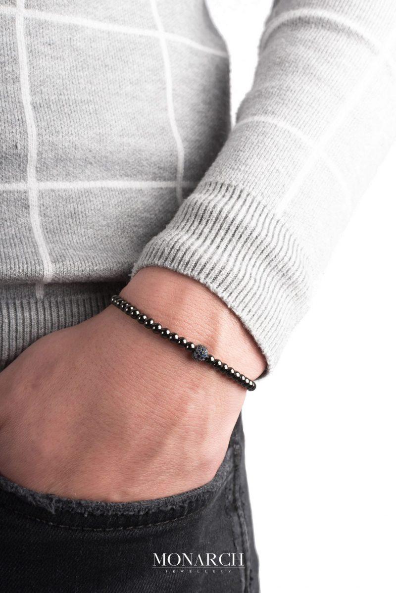 black luxury bracelet for man, monarch jewellery MA59BAZU