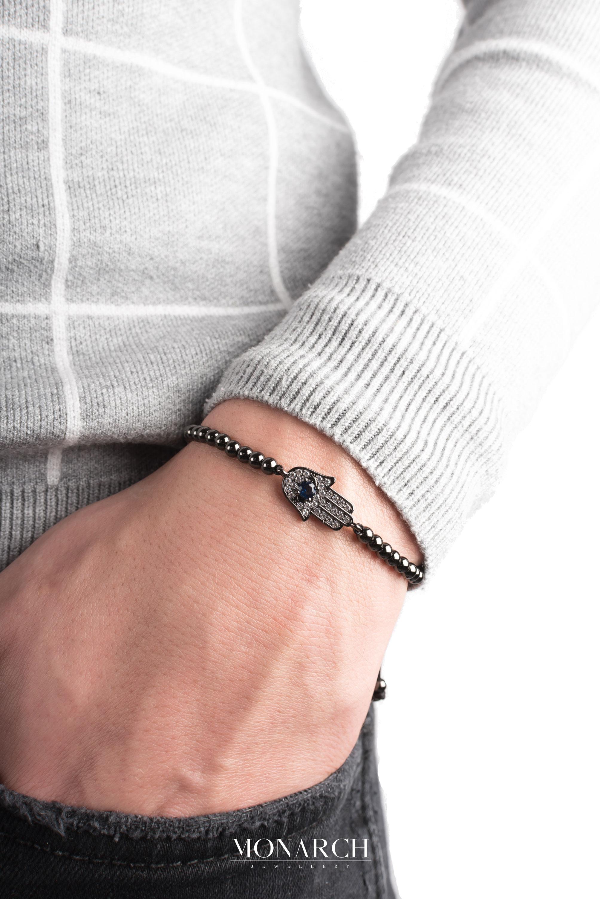 black luxury bracelet for man, monarch jewellery MA62BFTM