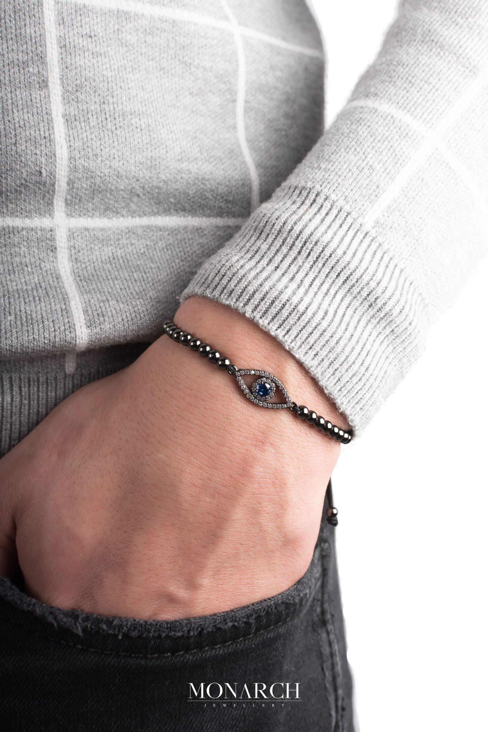 black luxury bracelet for man, monarch jewellery MA63BFTE