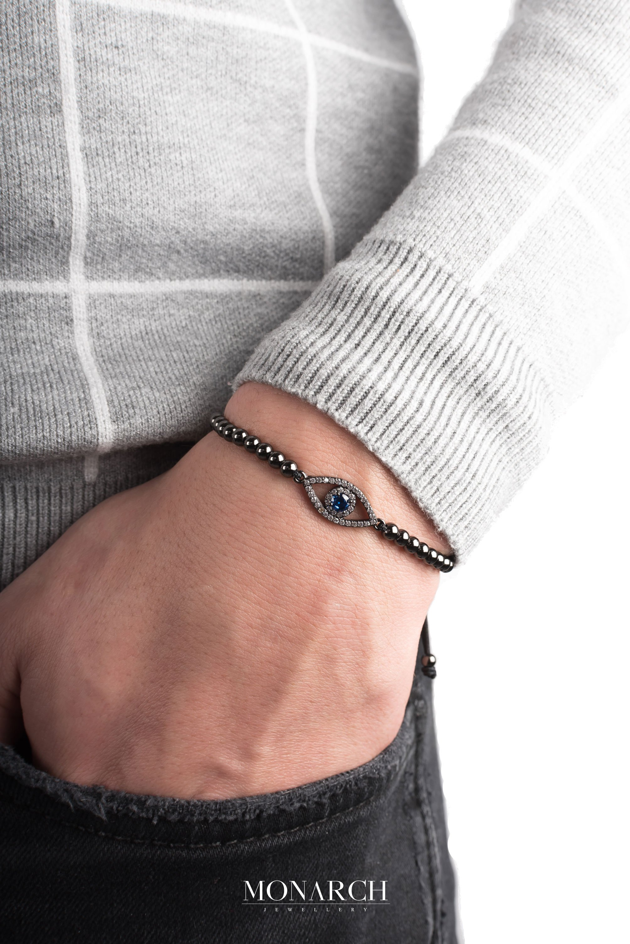 black luxury bracelet for man, monarch jewellery MA63BFTE
