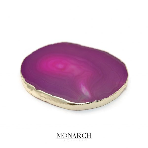 Monarch Jewellery 24k Gold Dragon Eye Stone Glass Holder