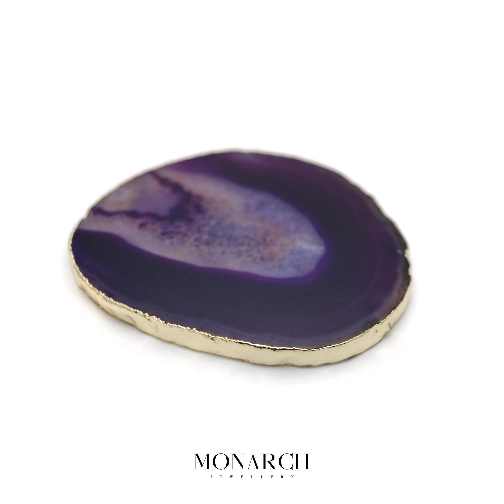 Monarch Jewellery 24k Gold Purple Eye Stone Glass Holder