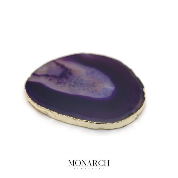 Monarch Jewellery 24k Gold Purple Eye Stone Glass Holder
