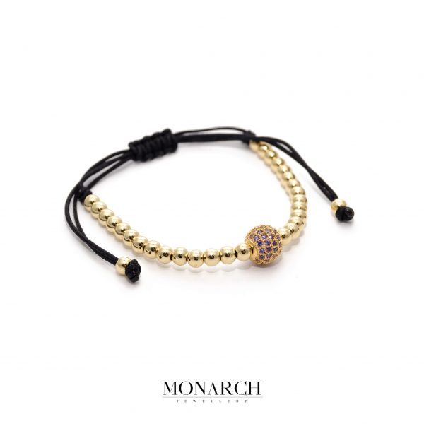 24K Gold Pink Solo Bead Bracelet