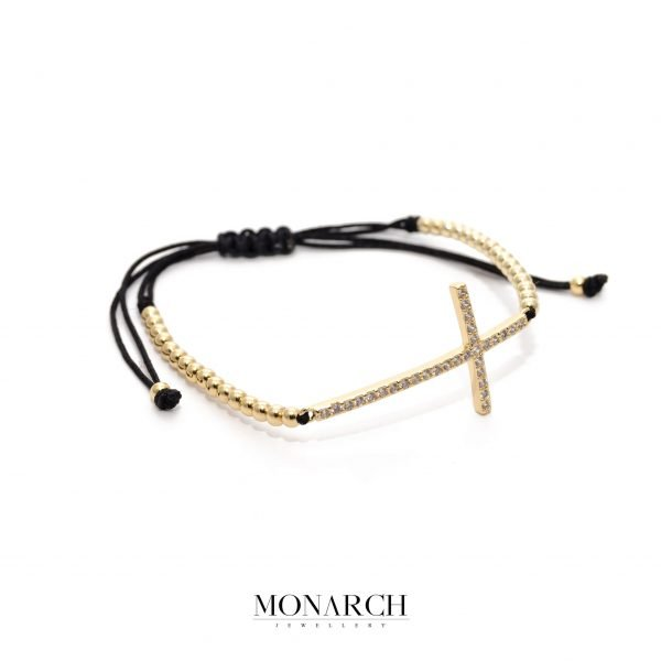 24K Gold Faith Macrame Bracelet
