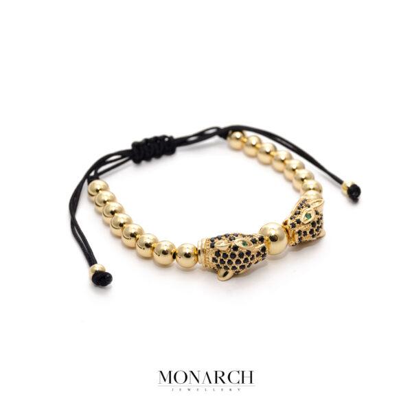 24K Gold Black Mau Macrame Bracelet