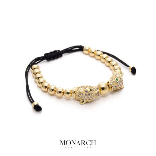 24K Gold White Mau Macrame Bracelet