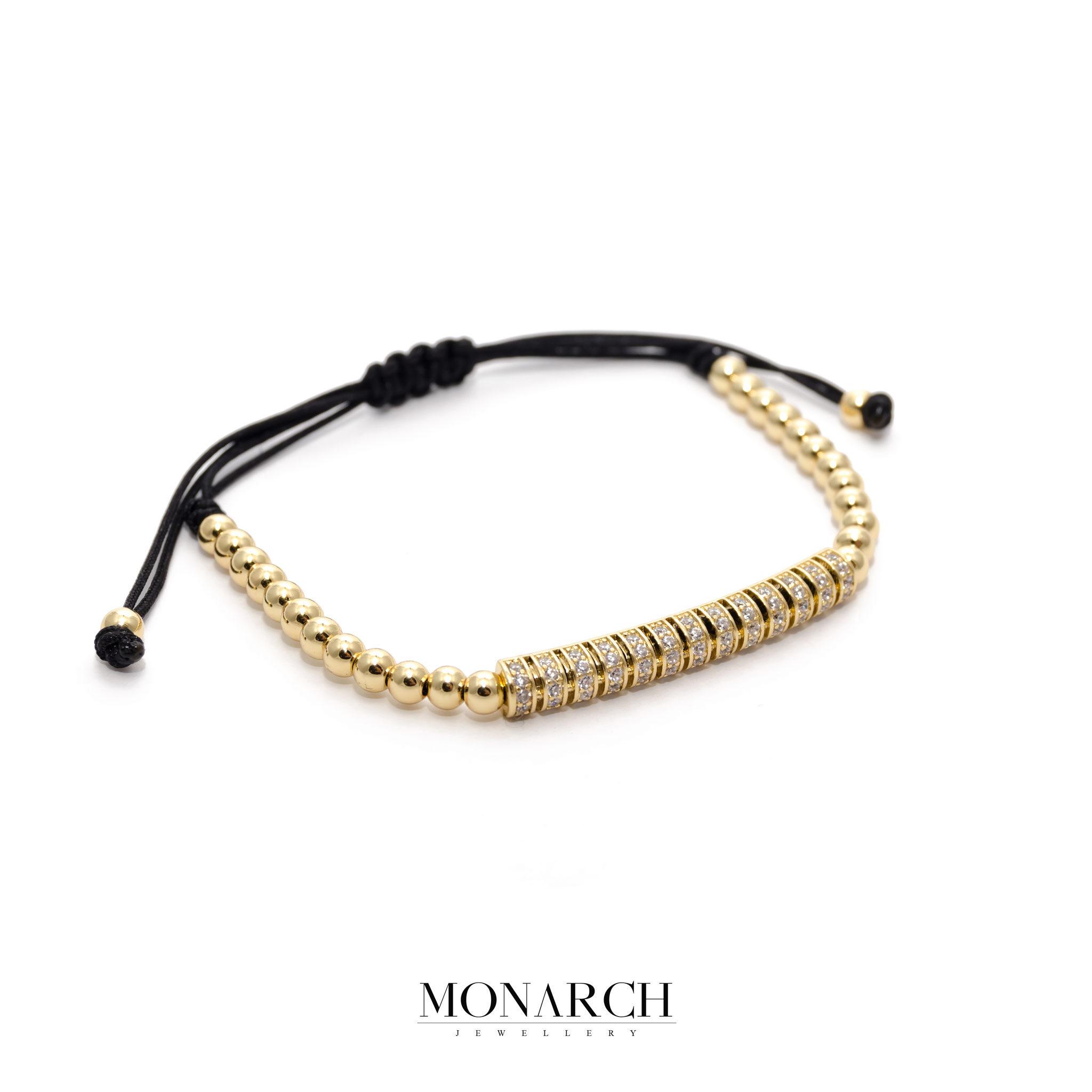 24K Gold Micro Pave Macrame Bracelet