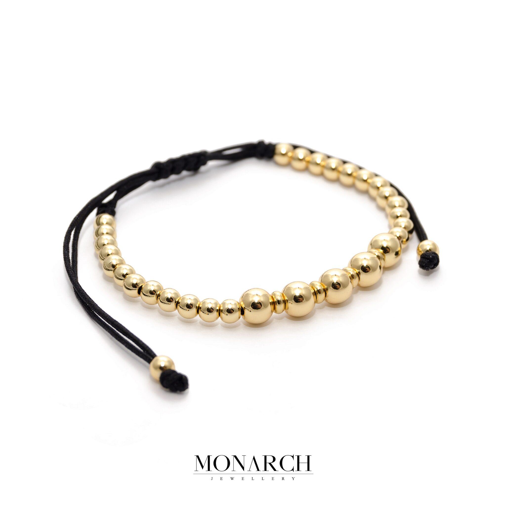24K Gold Penta Macrame Bracelet