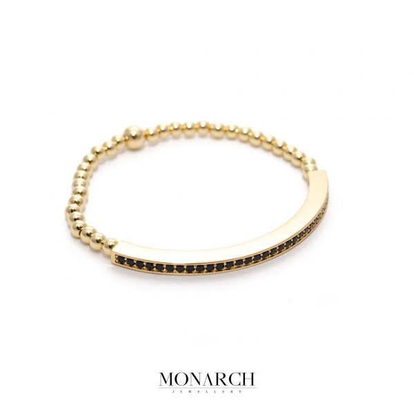 24K Gold Black String Bracelet