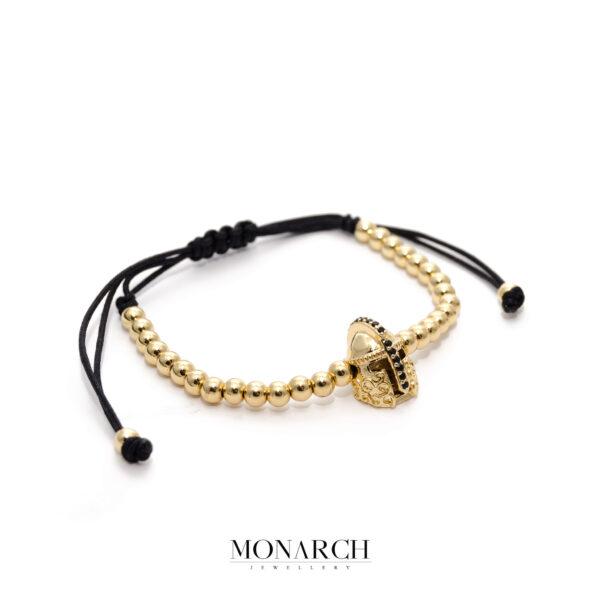 24K Gold Paladin Macrame Bracelet