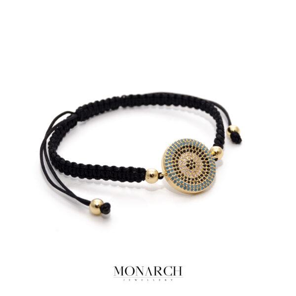 24K Gold Zircon Charm Macrame Bracelet