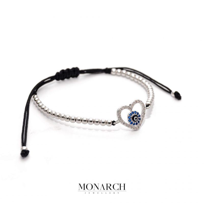 24K Argentum Heart Macrame Bracelet