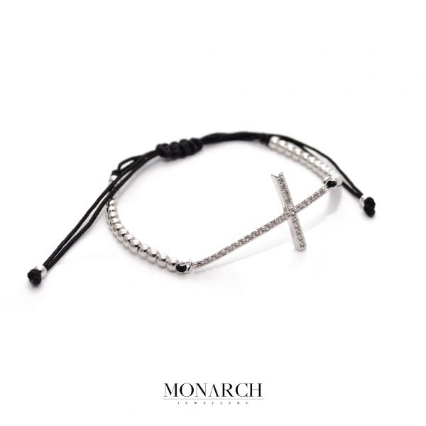 24K Argentum Faith Macrame Bracelet