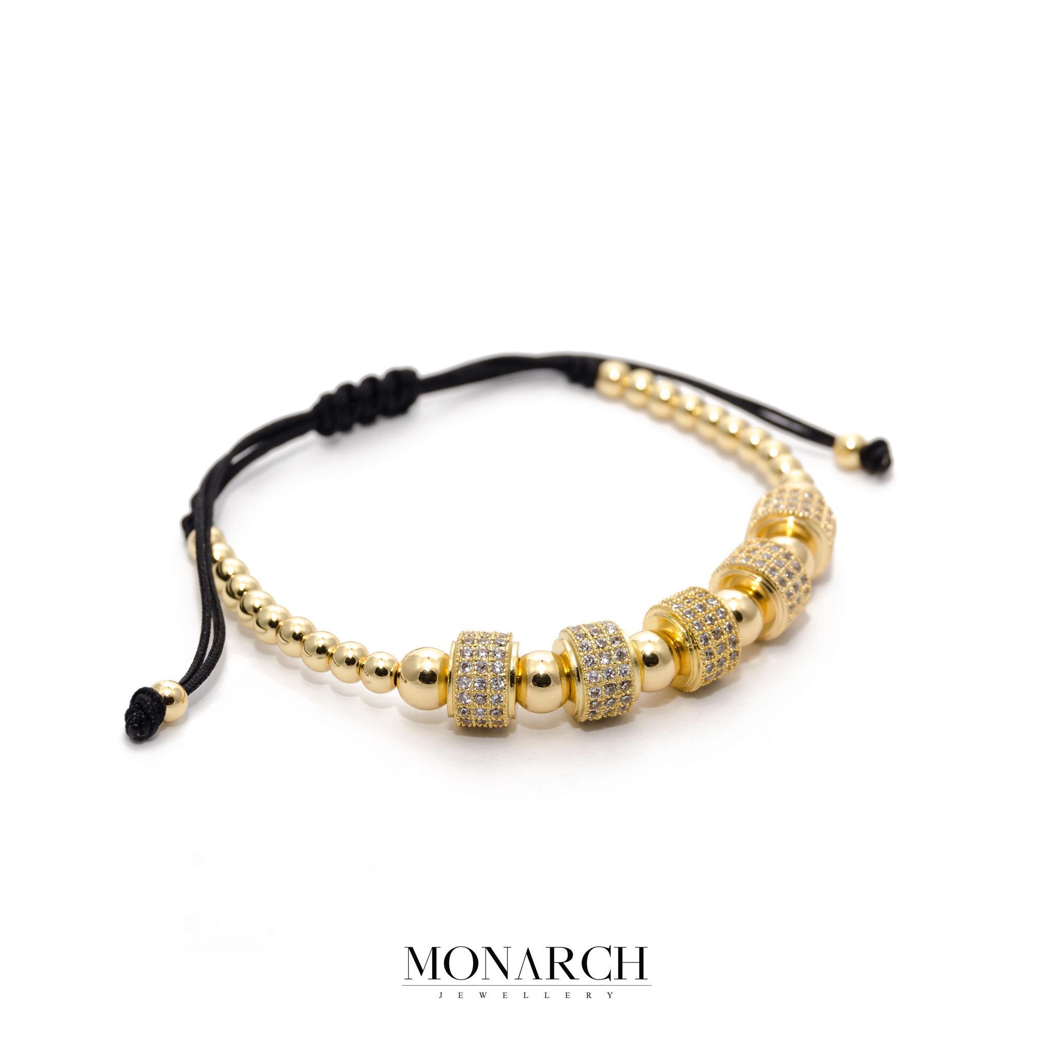 24K Gold White Penta Circum Bracelet