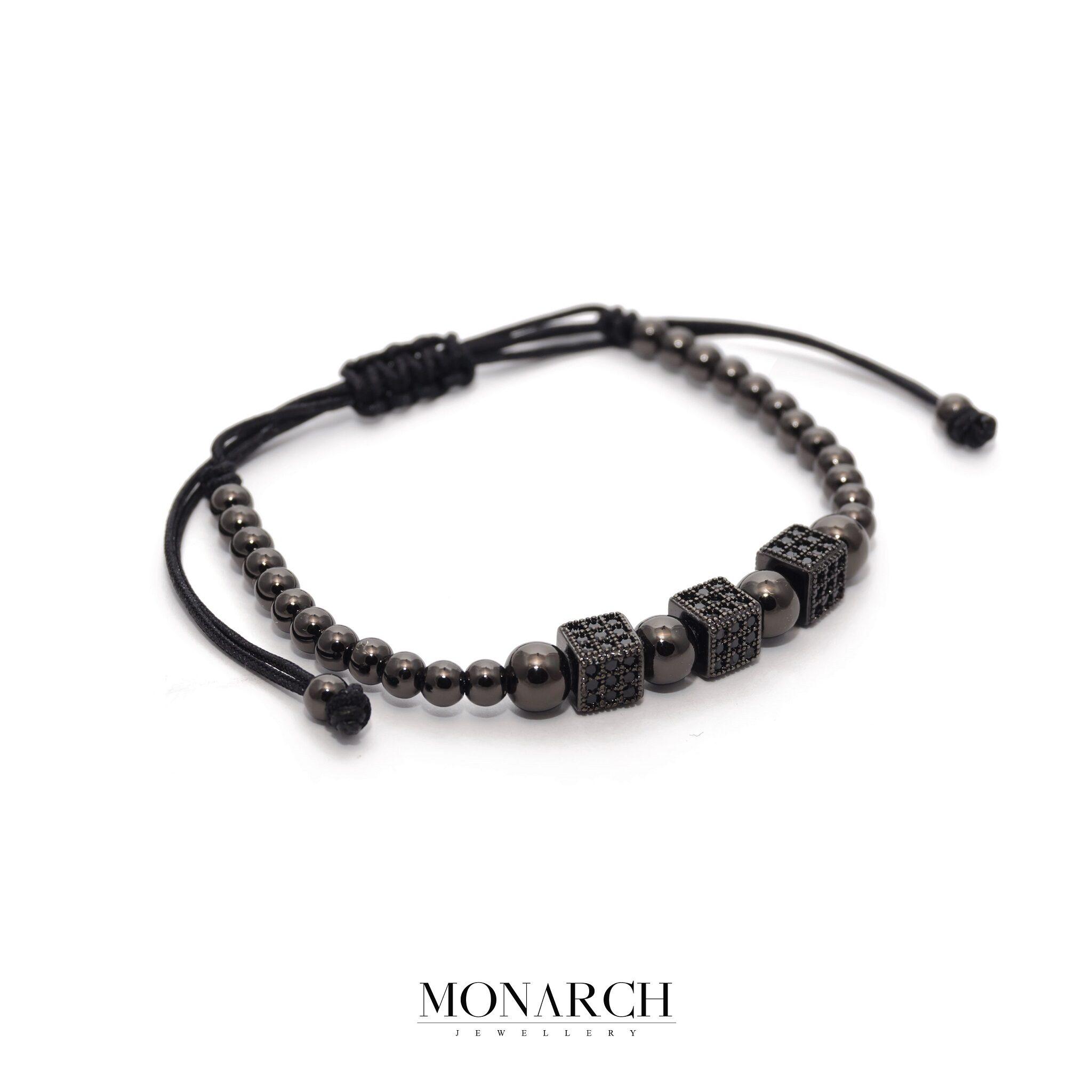 Nero Black Trio Cube Bracelet
