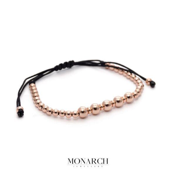 24K Rose Gold Penta Macrame Bracelet