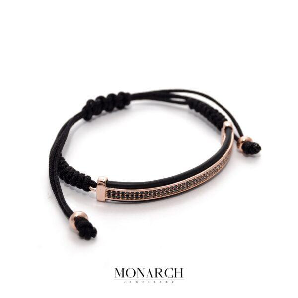 24K Rose Gold Tubus Macrame Bracelet