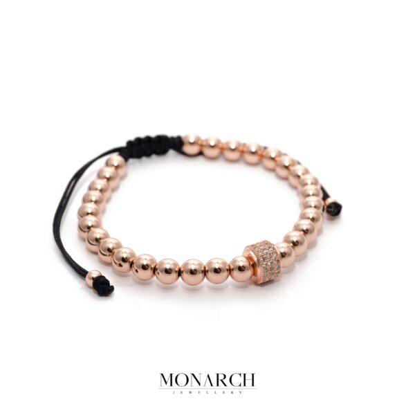 24K Rose Gold Solo Circum Macrame Bracelet