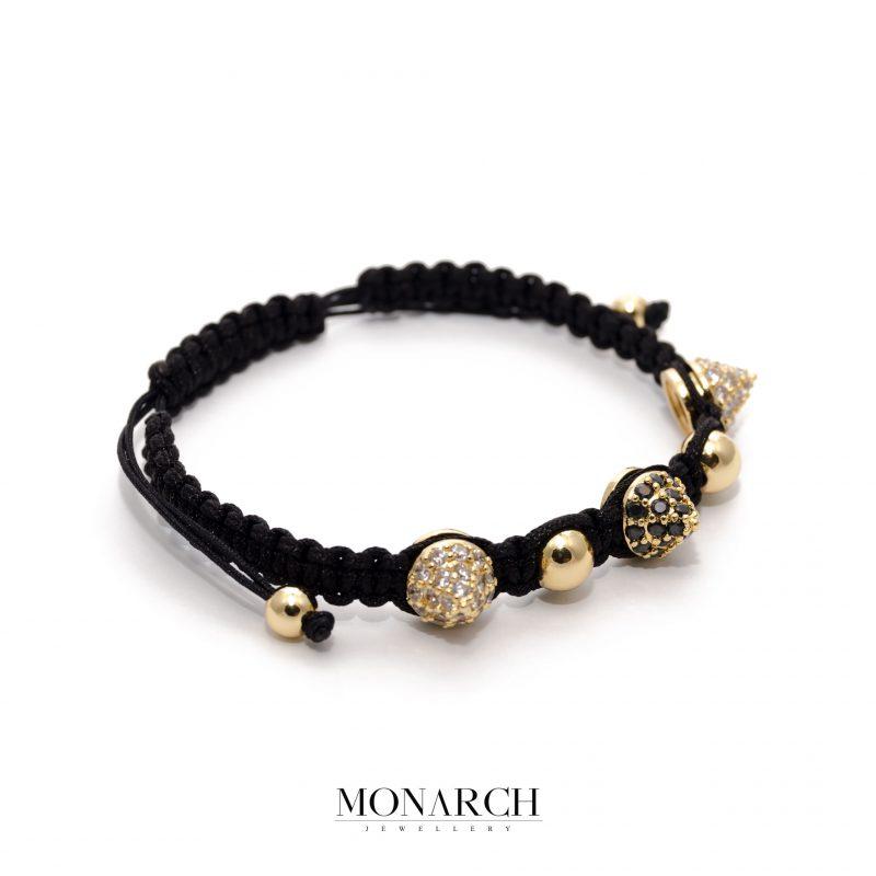 Monarch Jewellery Gold Spike Macrame