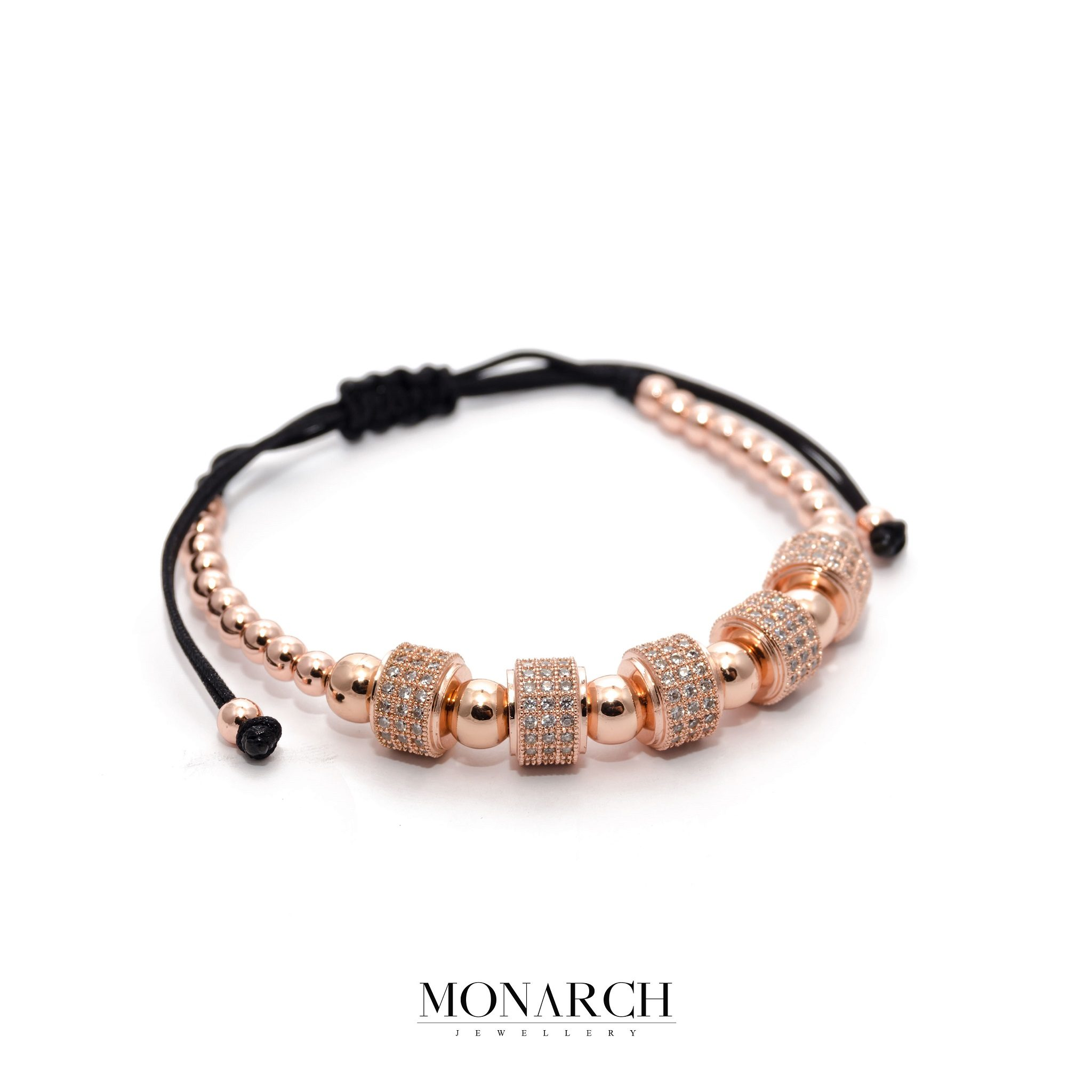 24K Rose Gold Penta Circum Macrame Bracelet