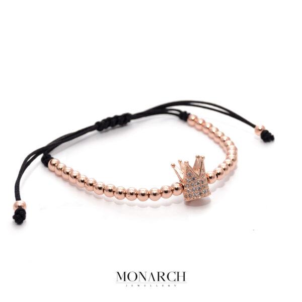 24K Rose Gold Emperor Macrame Bracelet