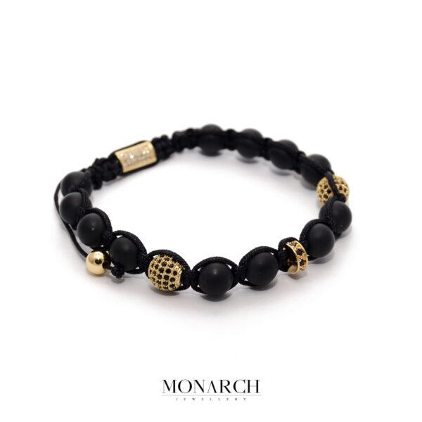 Gold Black Beads Bracelet