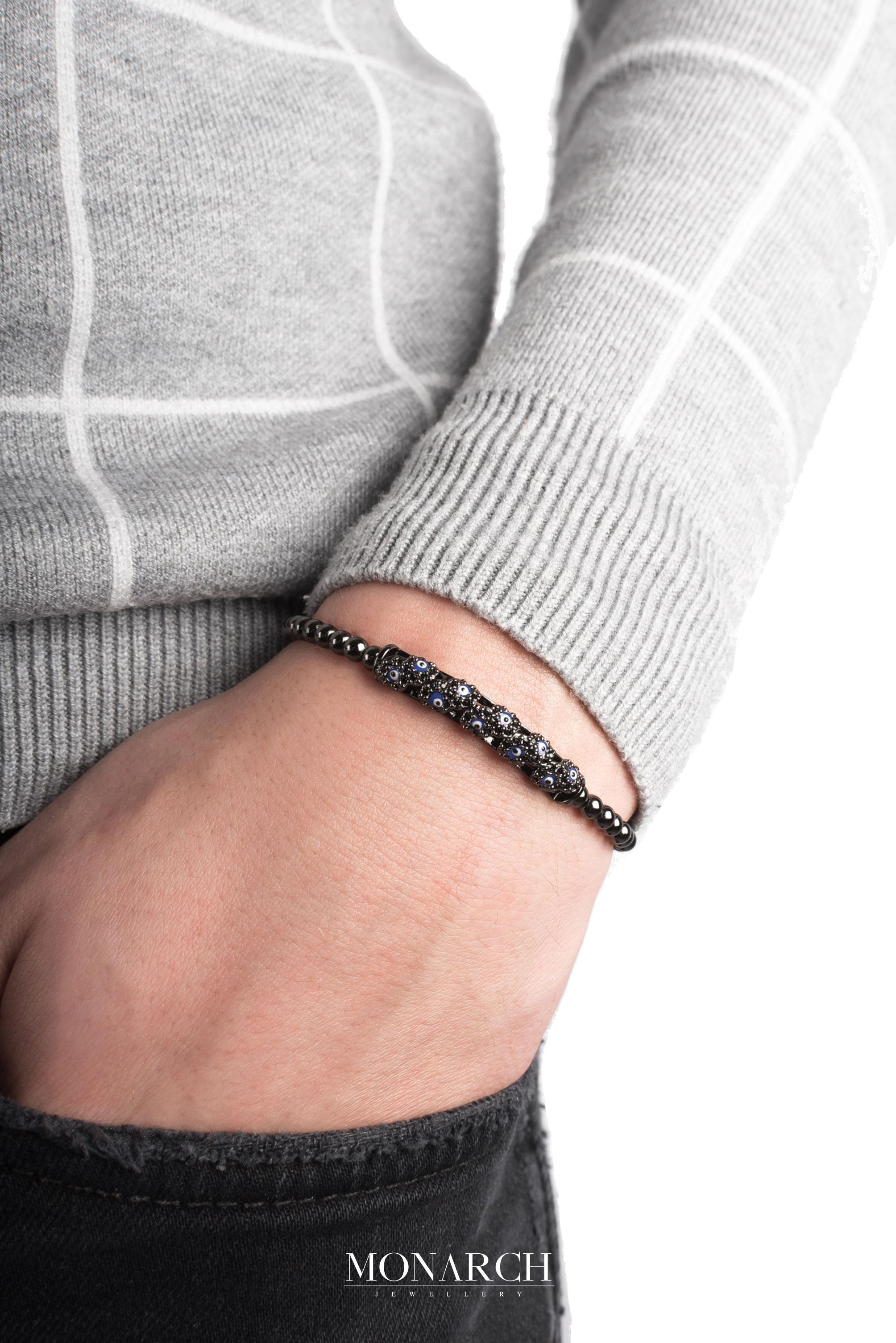 black luxury bracelet for man, monarch jewellery MA144NEE