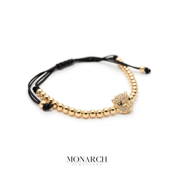 Gold luxury bracelet for man, monarch jewellery MA166GMB