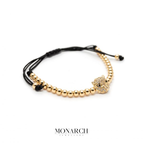 Gold luxury bracelet for man, monarch jewellery MA166GMB