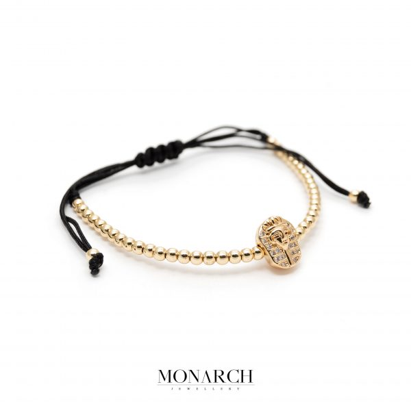 Gold luxury bracelet for man, monarch jewellery MA167GFB