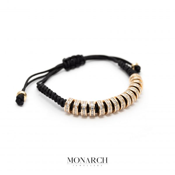 Gold luxury bracelet for man, monarch jewellery MA168GMB