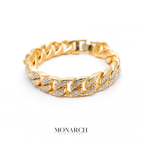 Gold luxury bracelet for man, monarch jewellery MA170GCB